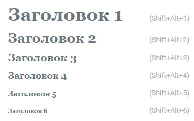 Заголовки h1-h6